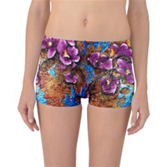 Fall Flowers No  5 Reversible Boyleg Bikini Bottoms
