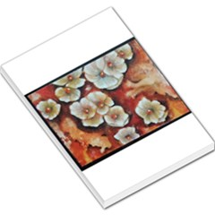 Fall Flowers No  6 Large Memo Pads