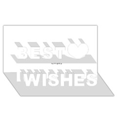 Fall Flowers No. 6 Best Wish 3D Greeting Card (8x4)