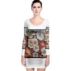 Fall Flowers No  6 Long Sleeve Bodycon Dresses