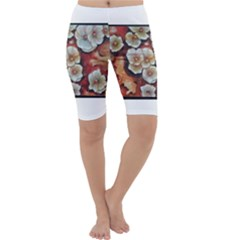 Fall Flowers No. 6 Cropped Leggings