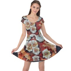 Fall Flowers No. 6 Cap Sleeve Dresses