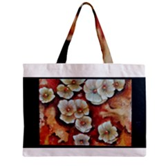 Fall Flowers No. 6 Zipper Tiny Tote Bags
