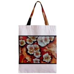 Fall Flowers No. 6 Zipper Classic Tote Bags