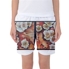Fall Flowers No  6 Women s Basketball Shorts