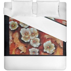 Fall Flowers No  6 Duvet Cover (king Size)