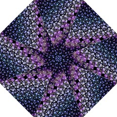 Dusk Blue And Purple Fractal Folding Umbrella