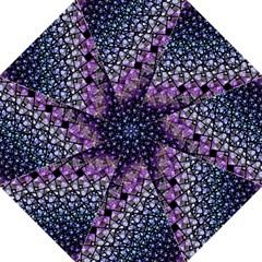 Dusk Blue And Purple Fractal Hook Handle Umbrella (medium)
