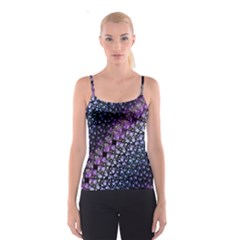 Dusk Blue and Purple Fractal Spaghetti Strap Top