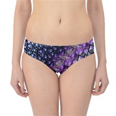 Dusk Blue and Purple Fractal Hipster Bikini Bottoms