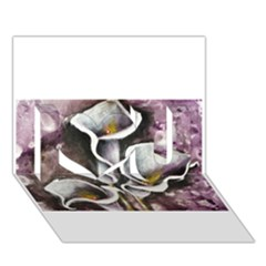 Gala Lilies I Love You 3d Greeting Card (7x5)
