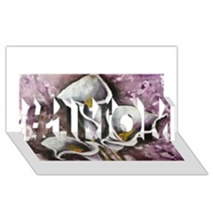 Gala Lilies #1 MOM 3D Greeting Cards (8x4)