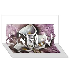 Gala Lilies SORRY 3D Greeting Card (8x4)
