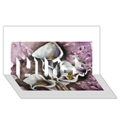 Gala Lilies HUGS 3D Greeting Card (8x4)