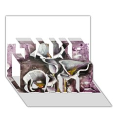 Gala Lilies Take Care 3d Greeting Card (7x5)