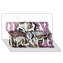Gala Lilies Happy New Year 3d Greeting Card (8x4)