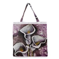Gala Lilies Grocery Tote Bags