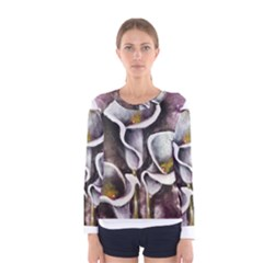 Gala Lilies Women s Long Sleeve T-shirts