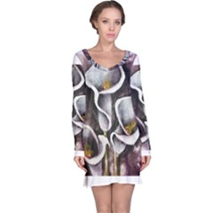 Gala Lilies Long Sleeve Nightdresses