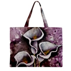Gala Lilies Zipper Tiny Tote Bags