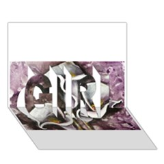 Gala Lilies GIRL 3D Greeting Card (7x5)