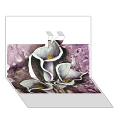 Gala Lilies Apple 3D Greeting Card (7x5)