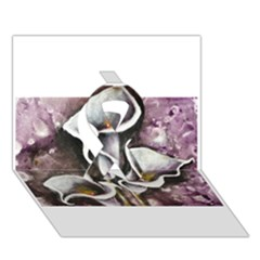 Gala Lilies Ribbon 3d Greeting Card (7x5)