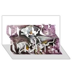 Gala Lilies Best Wish 3d Greeting Card (8x4)