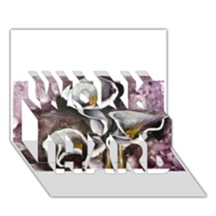 Gala Lilies WORK HARD 3D Greeting Card (7x5)