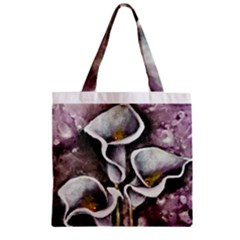 Gala Lilies Zipper Grocery Tote Bags