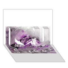 Shades Of Purple I Love You 3d Greeting Card (7x5)