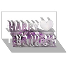 Shades Of Purple Happy Birthday 3d Greeting Card (8x4)