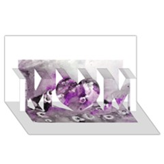 Shades Of Purple Mom 3d Greeting Card (8x4)