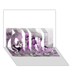 Shades Of Purple Girl 3d Greeting Card (7x5)