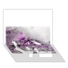 Shades of Purple LOVE Bottom 3D Greeting Card (7x5)