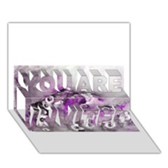 Shades of Purple YOU ARE INVITED 3D Greeting Card (7x5)