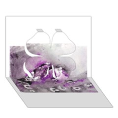 Shades Of Purple Clover 3d Greeting Card (7x5)