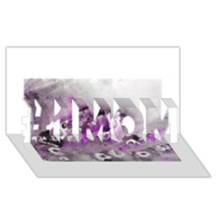 Shades Of Purple #1 Mom 3d Greeting Cards (8x4)
