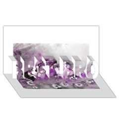 Shades Of Purple Best Bro 3d Greeting Card (8x4)
