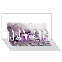 Shades Of Purple Best Sis 3d Greeting Card (8x4)