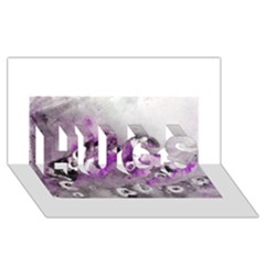 Shades of Purple HUGS 3D Greeting Card (8x4)