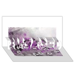 Shades of Purple ENGAGED 3D Greeting Card (8x4)
