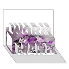 Shades Of Purple Work Hard 3d Greeting Card (7x5)