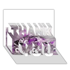 Shades of Purple THANK YOU 3D Greeting Card (7x5)