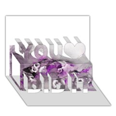 Shades Of Purple You Did It 3d Greeting Card (7x5)