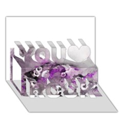 Shades of Purple You Rock 3D Greeting Card (7x5)