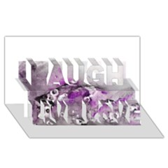 Shades Of Purple Laugh Live Love 3d Greeting Card (8x4)