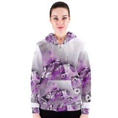Shades Of Purple Women s Zipper Hoodies