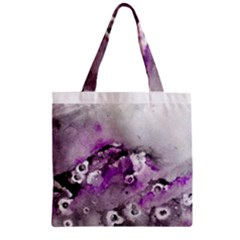 Shades of Purple Zipper Grocery Tote Bags
