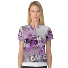 Shades Of Purple Women s V Neck Sport Mesh Tee